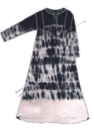 Cotton and silk woven dress