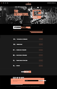 Plantilla web para sala de conciertos