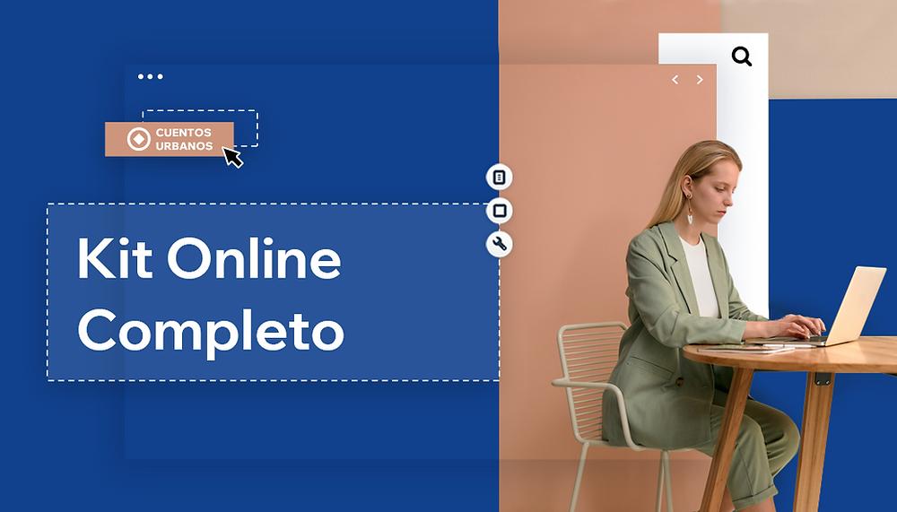Emprendedora frente a su computador lee la guía para manejar negocios online