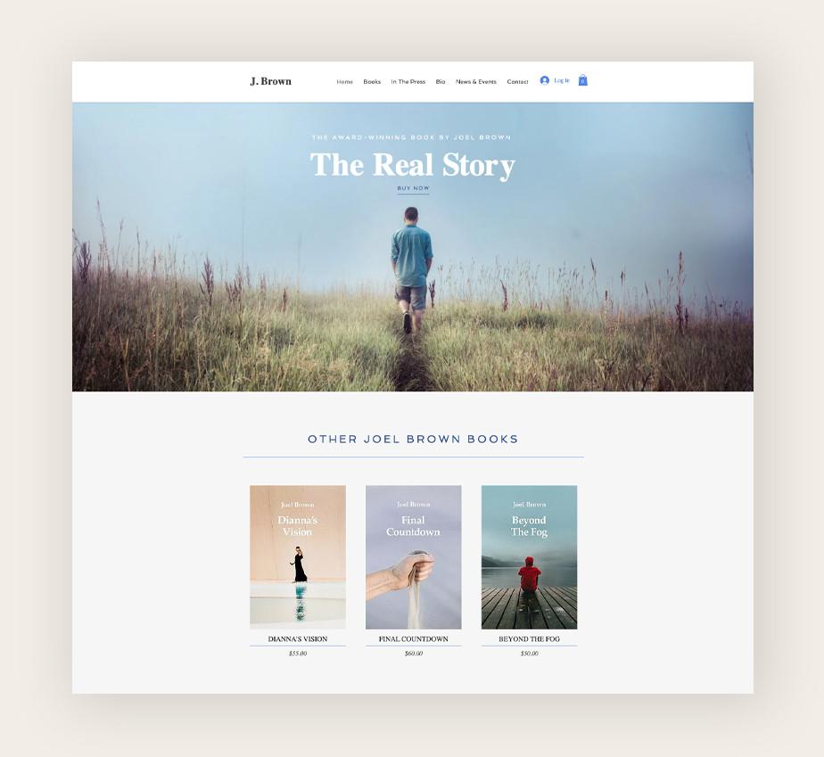 Plantilla web de Wix para e-books