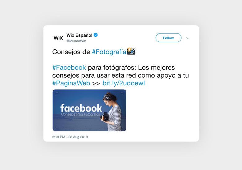 Ejemplo de Hashtag de fotografía para facebook