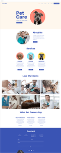 Plantilla web para veterinarios