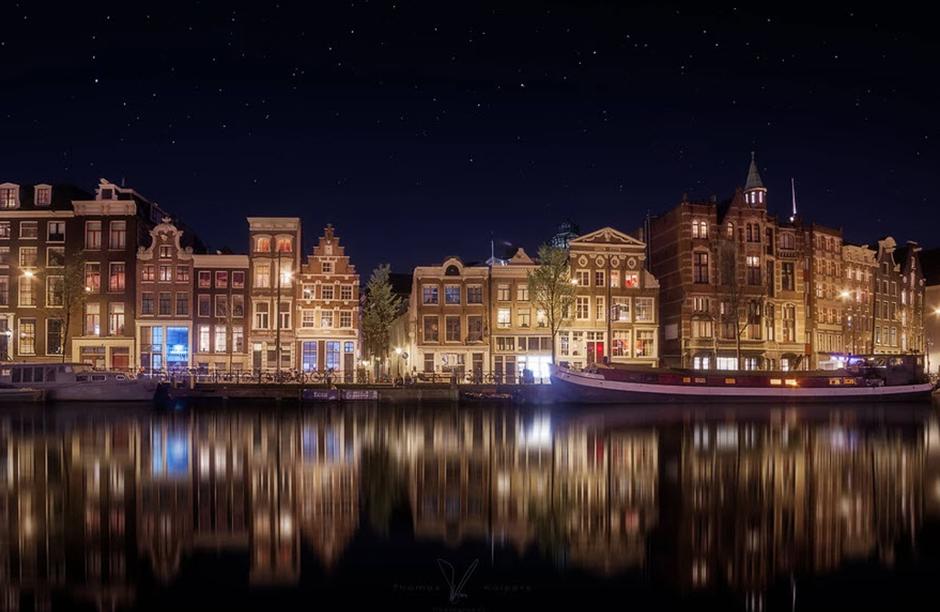 Fotografía urbana nocturna tomada por Thomas Kuipers