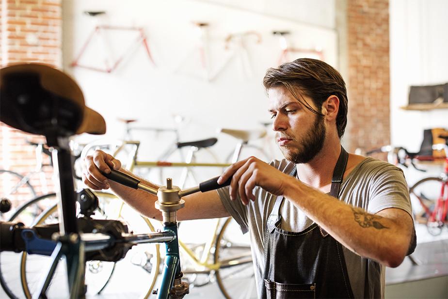 Imagen de negocio de reparación de bicicletas