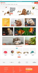 Plantilla web para tienda de artículos para mascotas