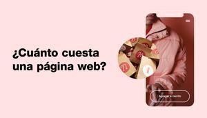 Imagen de sitio web en pantalla móvil