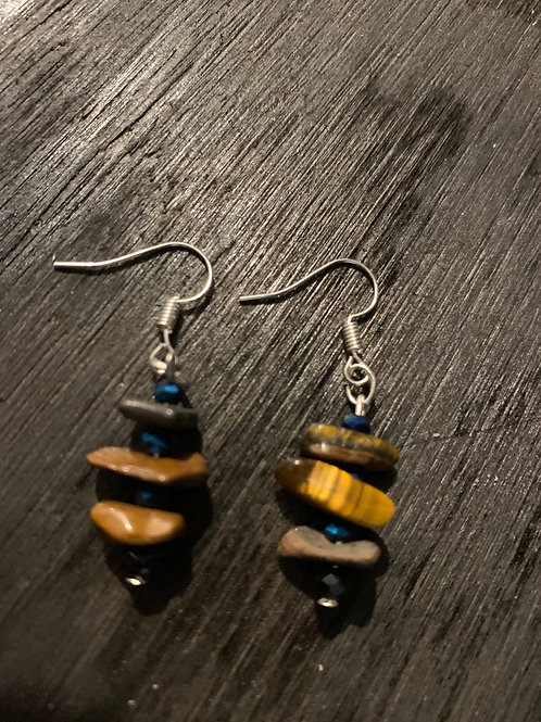 Earrings-Tigers eye