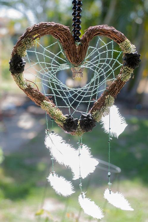 Woven Heart Dreamcatcher