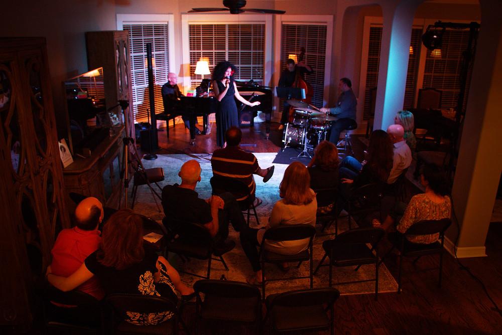 The Raquel Cepeda Jazz Quartet at a House Concert
