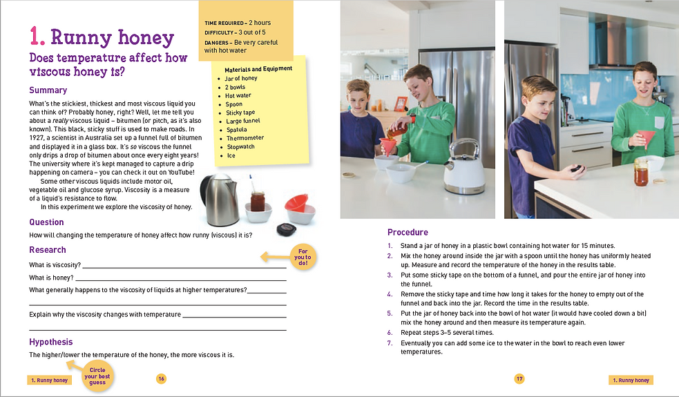 Sample Page Make Science Fun Experiments by Jacob Strickling
