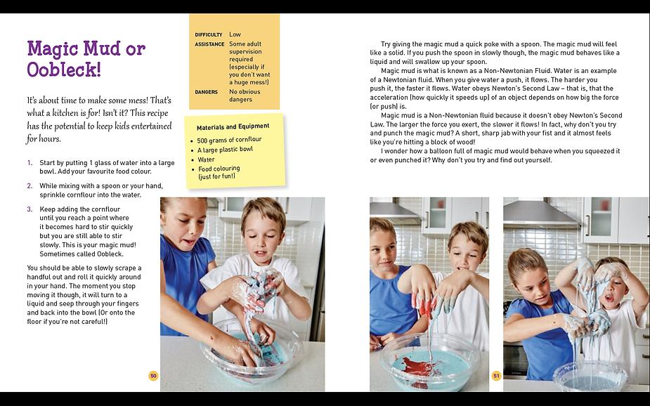 Sampe page Make Science Fun book by Jacob Strickling
