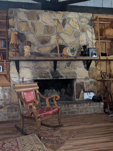 Rocking Chair at Fireplace Alabama Oct 2