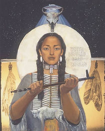 Return of Ancestors Buffalo Woman by Hea