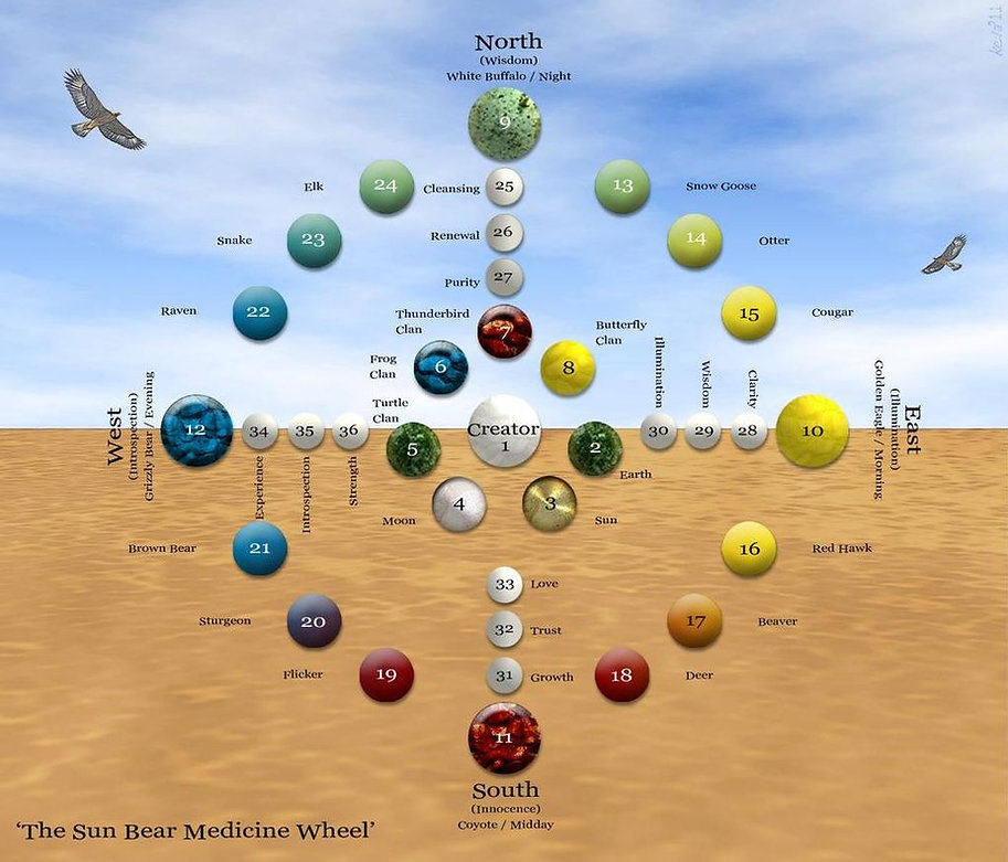 Sun Bear Medicine Wheel from Internet.JP