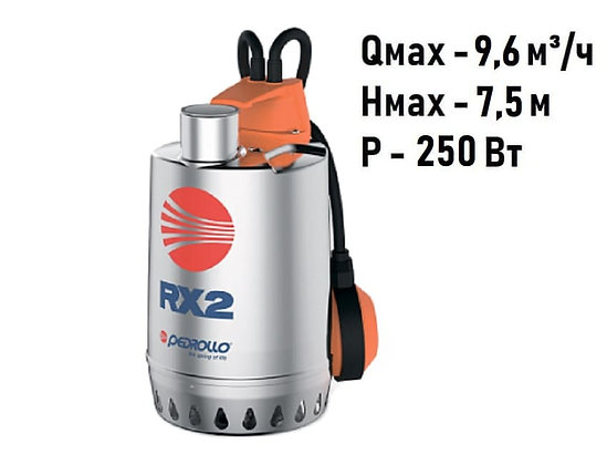 Pedrollo RXm 1 погружной дренажный насос для дренажа грязной воды