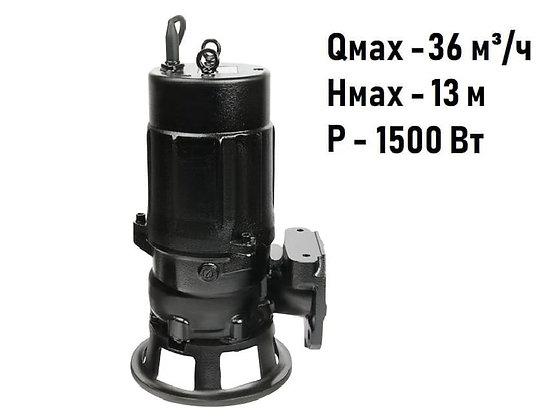 Дренажный погружной насос Unipump FEKAMAX 80C2-1.5 для грязной воды, канализации, стоков, очистных станций