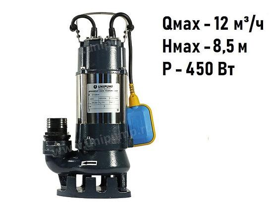 Дренажный фекальный насос Unipump FEKAPUMP V450F для грязной воды и канализации