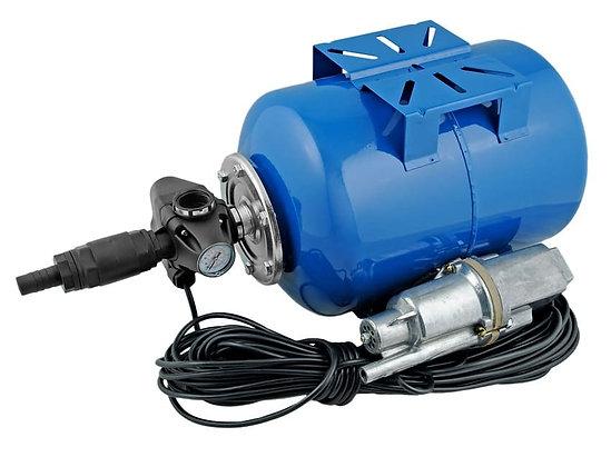 Автоматическая насосная станция водоснабжения Unipump АКВАРОБОТ М 24-10с гидроаккумулятором 24л погружной вибрационный 15м