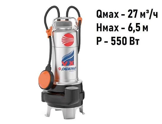 Pedrollo VX 8/50-N погружной фекальный насос с рабочим колесом Vortex для канализации