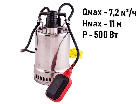 Дренажный погружной насос Aquario Vortex 4-7SS для грязной воды