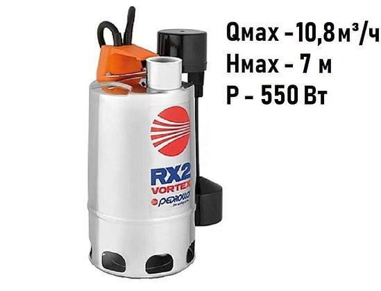 Pedrollo RXm 2/20-GM погружной дренажный насос для дренажа грязной воды