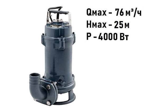 Фекальный дренажный насос Unipump FEKAMAX 45-17-4 для грязной воды стоков и канализации