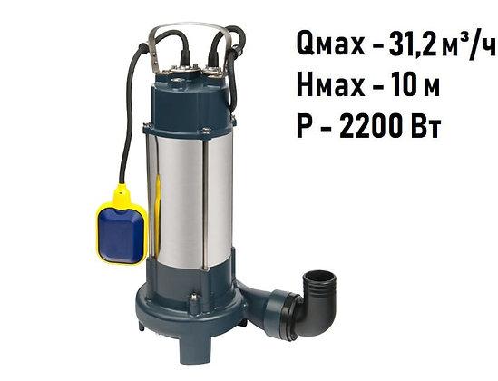 Насос фекальный FEKACUT V2200DF Unipump для грязной воды и канализации