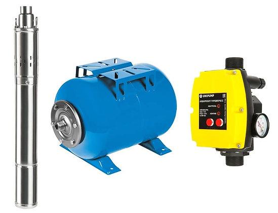 Станция автоматического водоснабжения АКВАРОБОТ ECO VINT 1-50 с винтовым насосом и гидроаккумулятором 50 литра