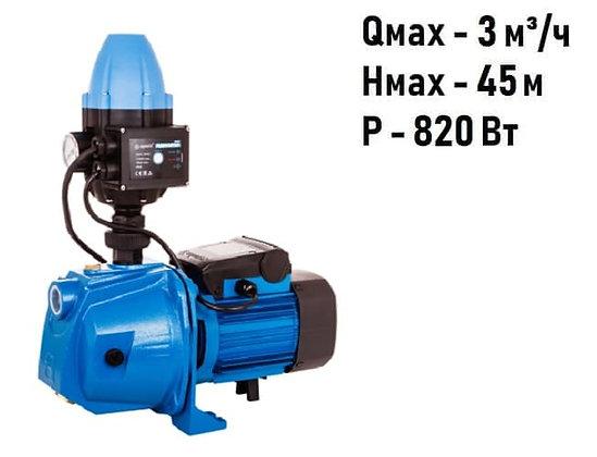адаптивная насосная станция насос-автоматAquario AJC-81 для повышения давления воды частного дома, скважина колодец