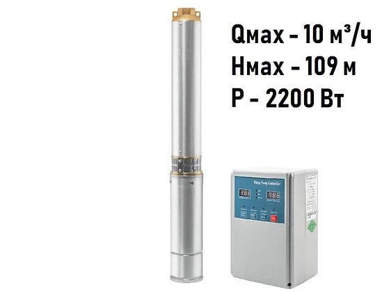 Погружные скважинные промышленные трехфазные насосы UNIPUMP ЕСО MAXI 10-109 глубинный центробежный