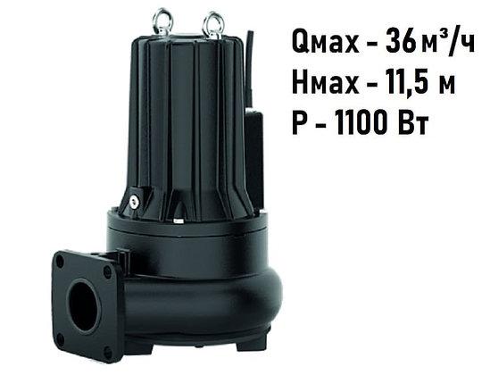 Pedrollo VCXm F 15/50 погружной фекальный насос с рабочим колесом Vortex для канализации