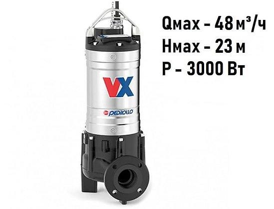 Pedrollo VX 40/40 трехфазный погружной фекальный насос с рабочим колесом Vortex для канализации