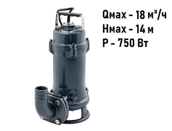 Фекальный дренажный насос Unipump FEKAMAX 10-10-0,75 для грязной воды стоков и канализации