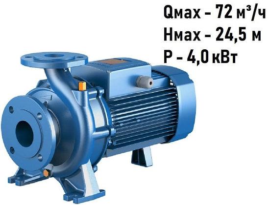Поверхностный центробежный консольный моноблочный насосPedrollo F 50/125A с фланцевым соединением,для водоснабжения