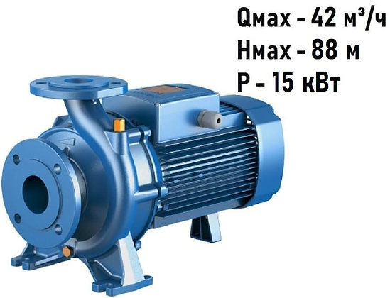 Поверхностный центробежный консольный моноблочный насосPedrollo F 40/250A с фланцевым соединением,для водоснабжения
