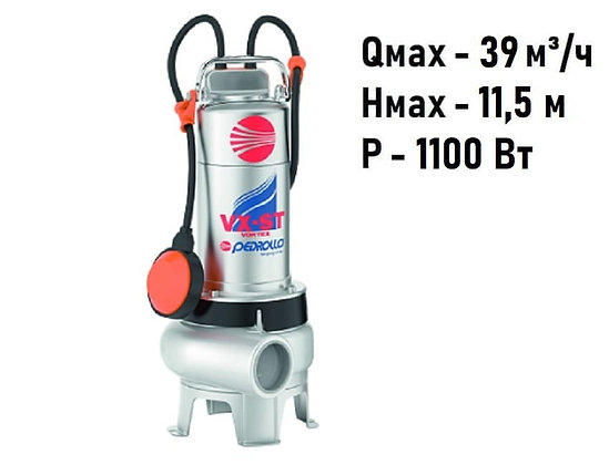 Дренажно-фекальный насос Pedrollo VXm 15/50-ST для грязной воды и канализации