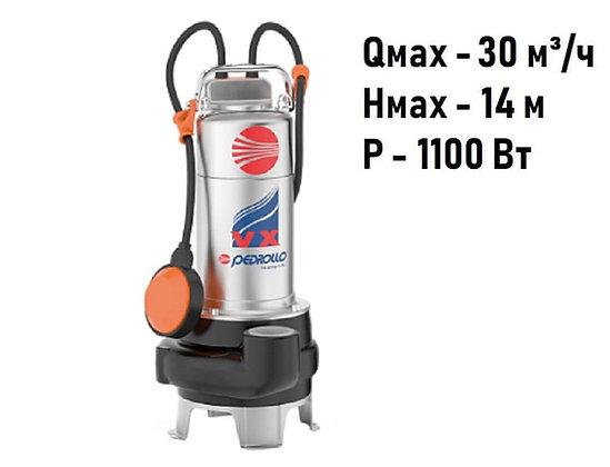 Pedrollo VXm 15/35-N погружной фекальный насос с рабочим колесом Vortex для канализации