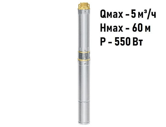 Скважинный погружной насос UNIPUMP ЕСО MINI 3-34 центробежный глубинный для скважины