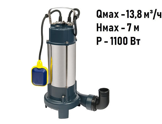 Насос фекальный FEKACUT V1100DF Unipump для грязной воды и канализации