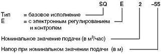 Услвное обозначение насов SQ и SQE