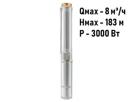 Скважинный погружной насос Unipump ЕСО 4-142 глубинный умный центробежный для скважины колодца