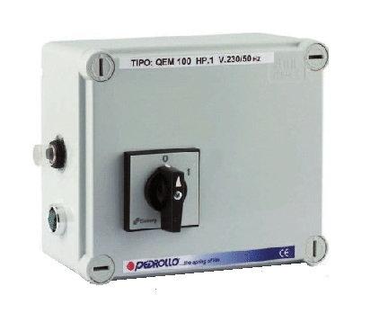 Пульт управления Pedrollo QEM 100 0,75 кВт/1ф дляпуска, мониторинга и диагностикиоднофазных скважных насосов.