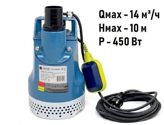 Дренажный погружной насос Unipump SPA 450 AF чугун для грязной воды