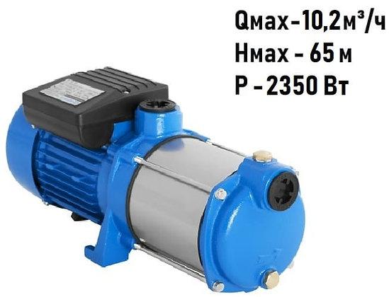 Поверхностный центробежный многоступенчатый насосAquario AMH 220-10P для воды водоснабжения частного дома колодец скважина