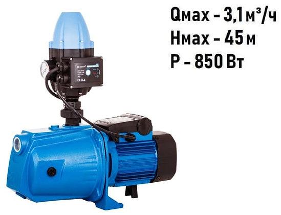 адаптивная насосная станция насос-автоматAquario AJC-81B-FC для повышения давления воды частного дома, скважина колодец
