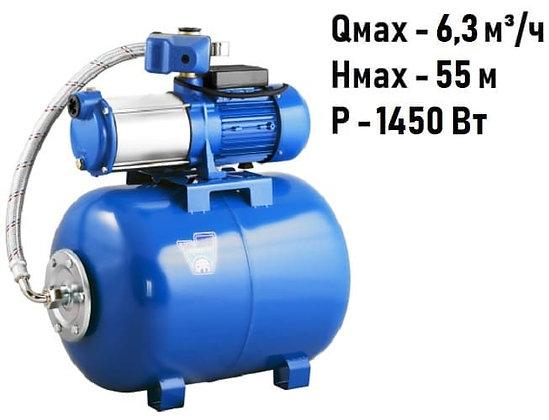 насосная станция многоступенчатаяAquario AMH-125-6P(50L) гидроаккумулятор 50 л повышение давления воды частного дома