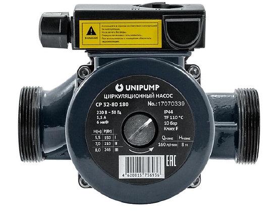 Циркуляционный насос Unipump CP 32-80 180 для отопления