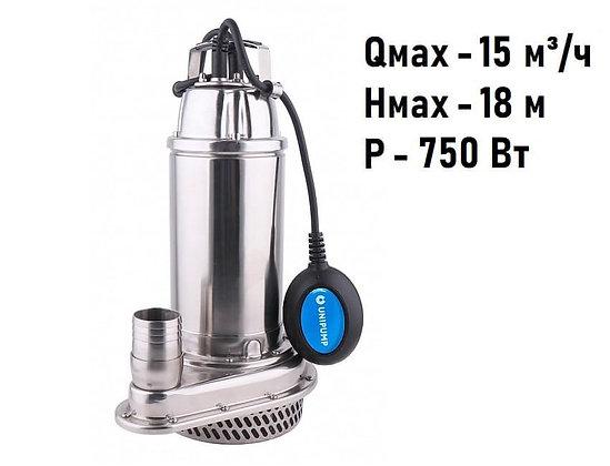 Погружной дренажный насос Unipump INOXPROF 6-16-0,75