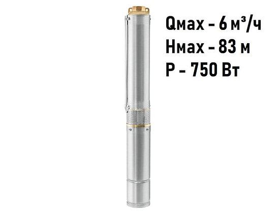 Скважинный погружной насос Unipump ЕСО 3-55 глубинный умный центробежный для скважины колодца
