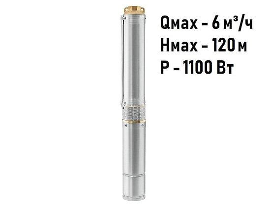 Скважинный погружной насос Unipump ЕСО 3-80 глубинный умный центробежный для скважины колодца